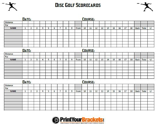 Enterprising image within disc golf scorecard printable