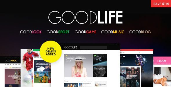 Goodlife Responsive Magazine Newspaper Theme Wordpress And