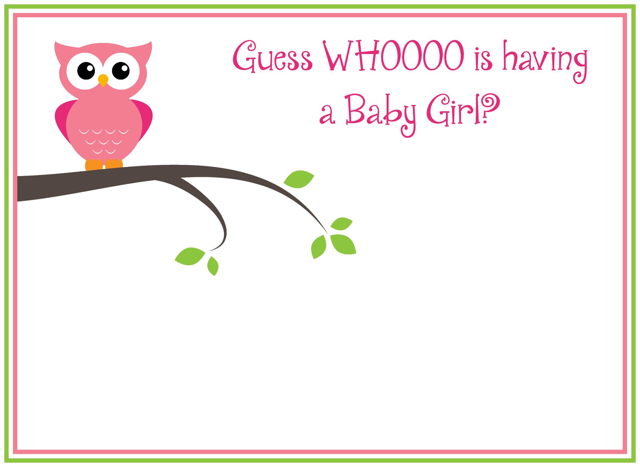 Free Printable Owl Baby Shower Invitations Other Printables Owl Baby Shower Invitations Free Baby Shower Invitations Baby Shower Invites For Girl