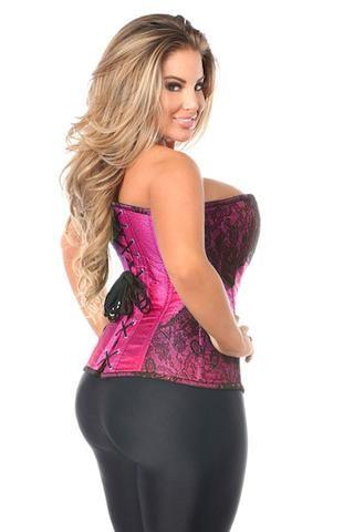 curvynbeautiful  brocade steel boned corset  plus size
