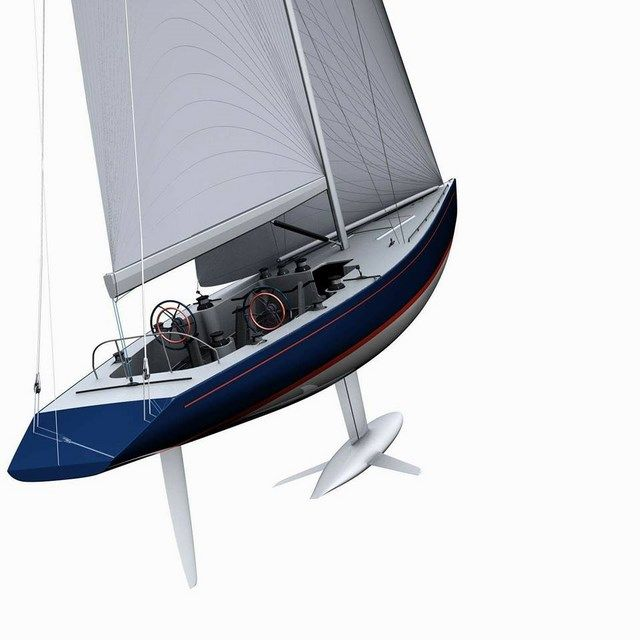 """Modern"" version of the 12 Meter Class by Tom Ehman - Boat Design Forums"