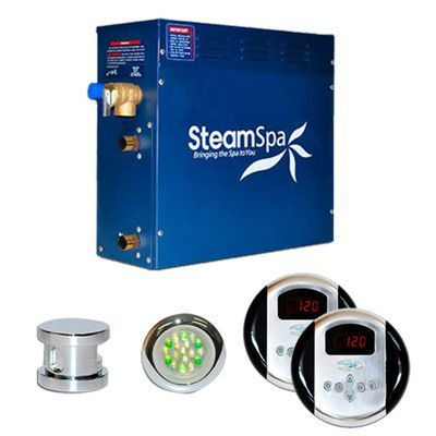 Steam Spa SteamSpa Royal 6 KW QuickStart Steam Bath Generator Package Finish: Chrome