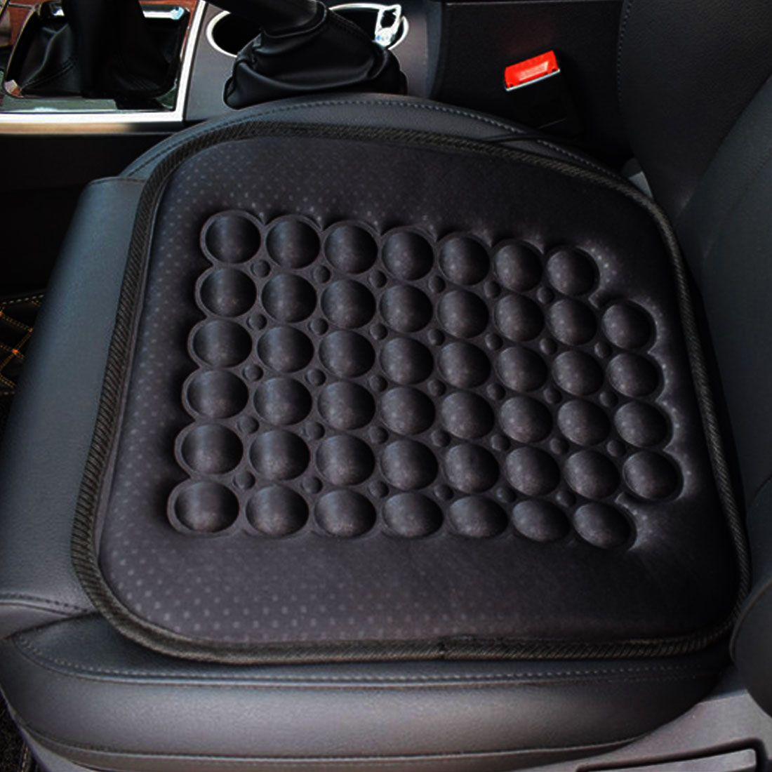Black Car Seat Cushion Covers Full Set 5-Seats PU Leather+Flax Accessories USA