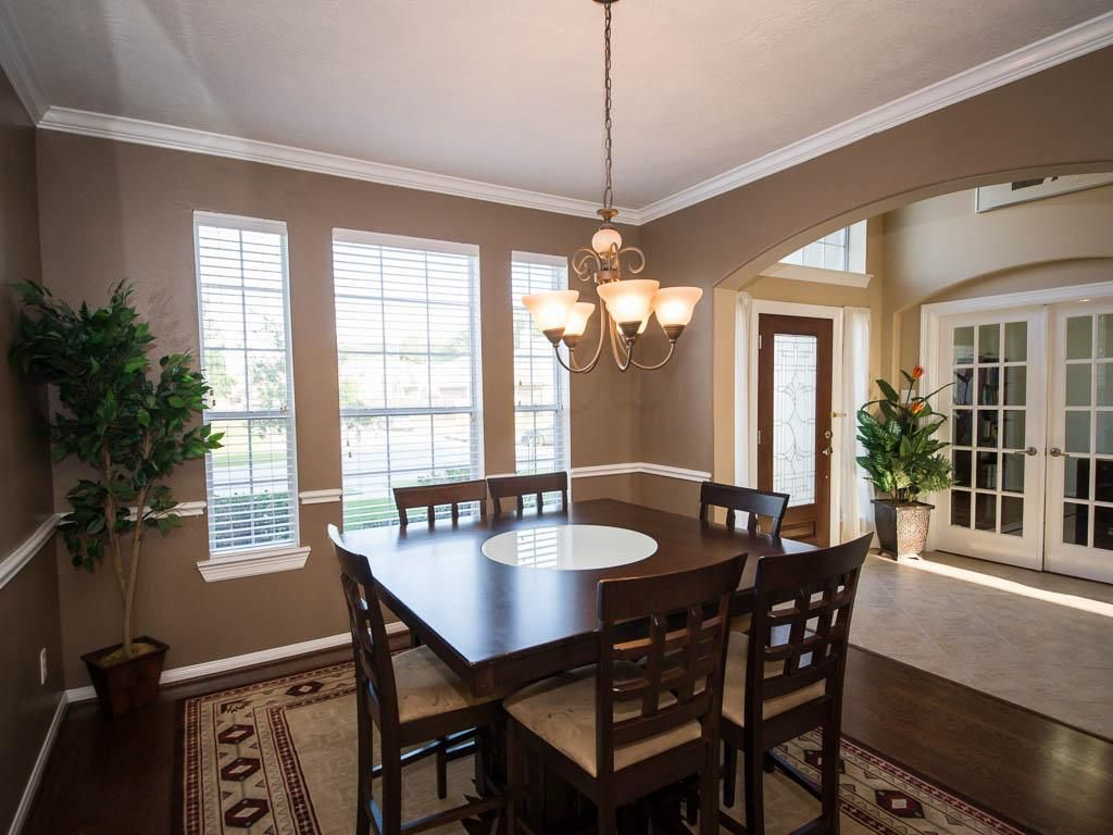 Bring home the large dining table because it will easily fit.
