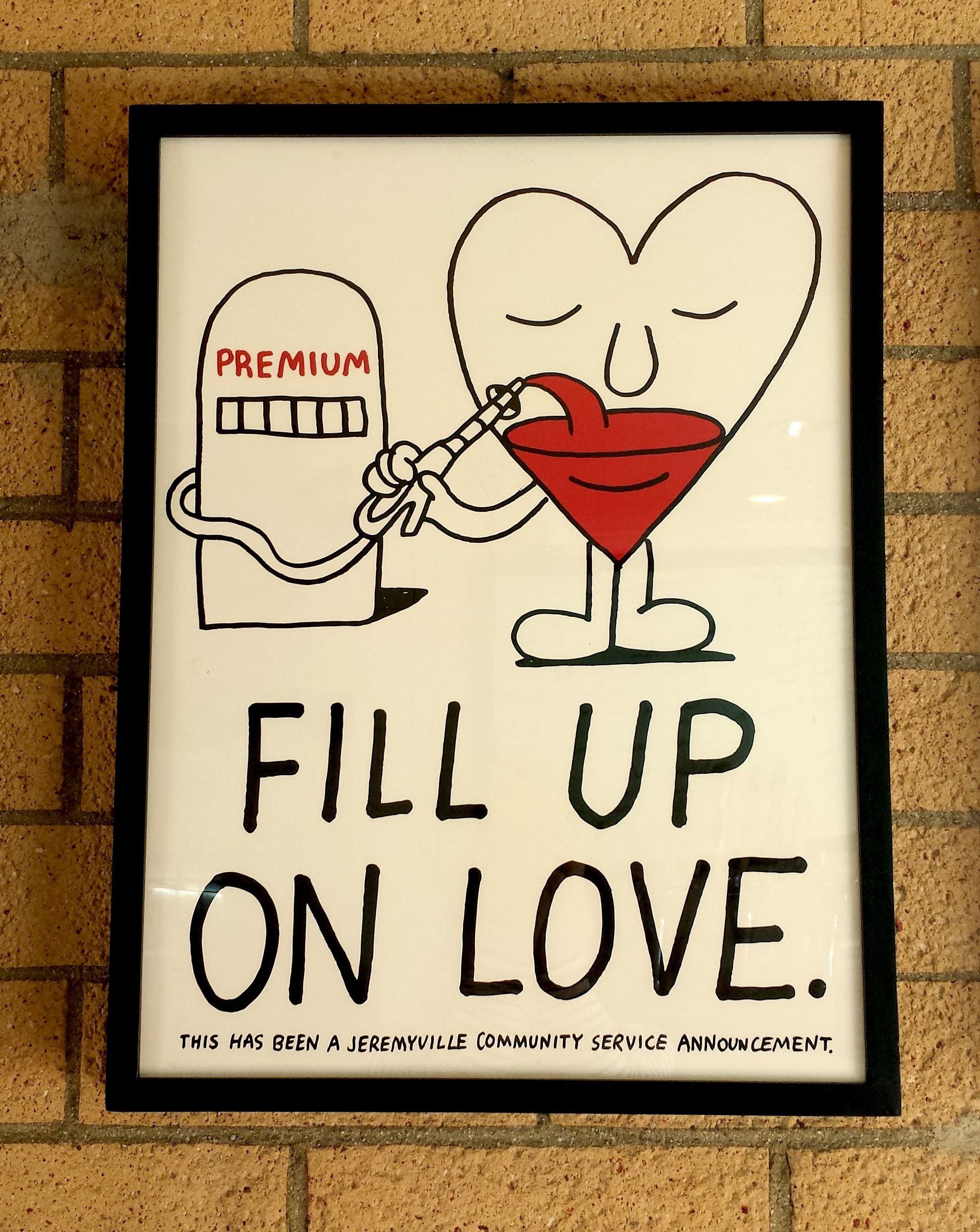 """Fill up on Love"" by Jeremyville on display at Tender Greens Santa Monica"