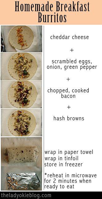 The Lady Okie Recipe Homemade Breakfast Burritos Homemade Breakfast Burritos Homemade Breakfast Frozen Breakfast