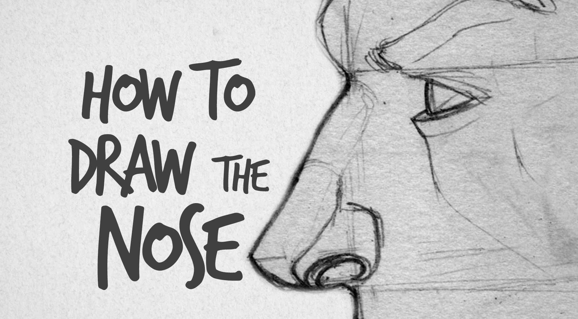 In this tutorial we will tackle the process of nose drawing tutorial ...