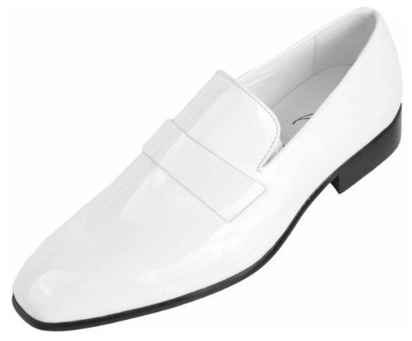 Handmade Men White Patent Leather Shoes Moccasins Slip Ons Men Party Shoes Handmade Loaf White Patent Leather Shoes White Dress Shoes Men Blue Leather Shoes