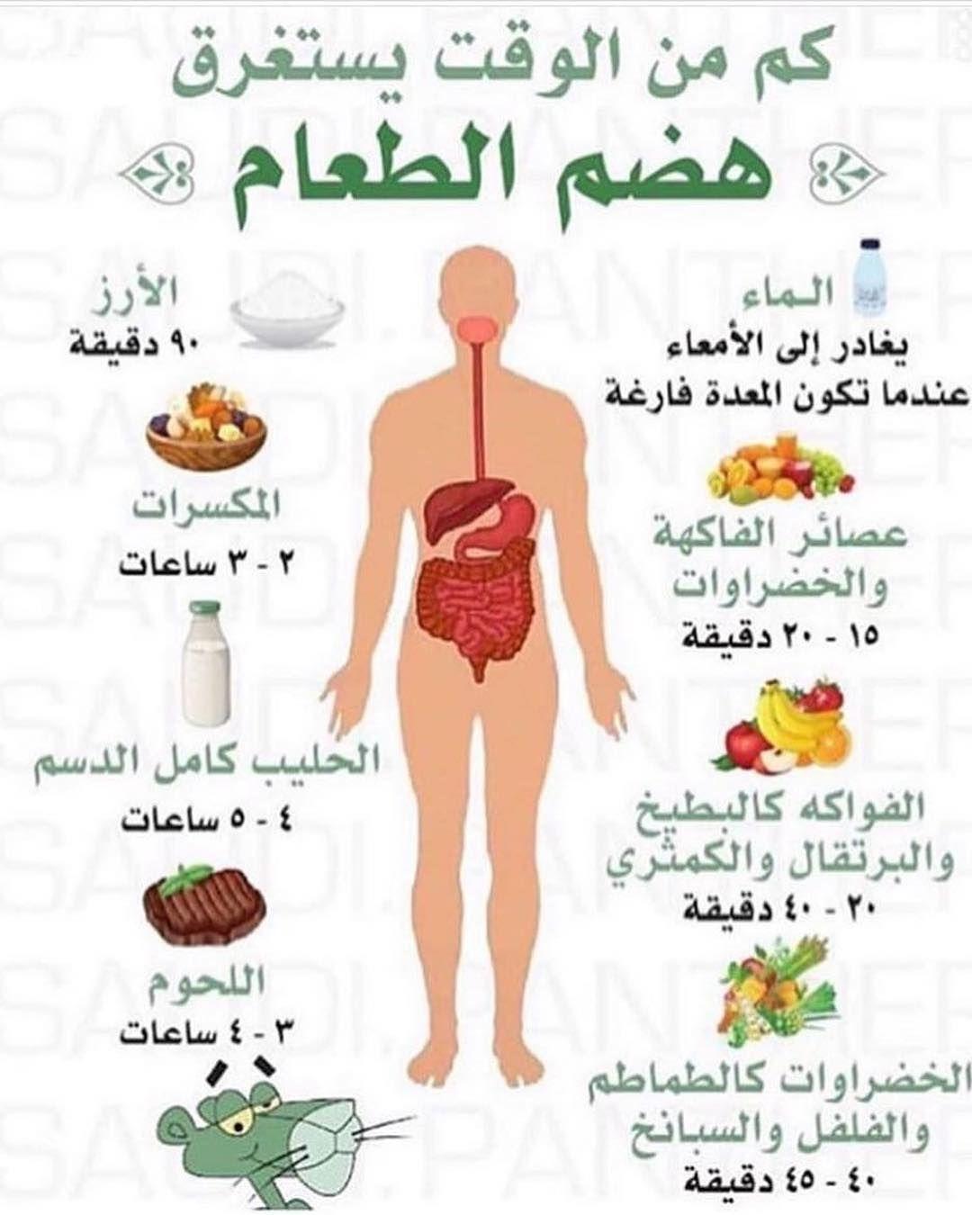 كم من الوقت يستغرق هضم الطعام Health Facts Fitness Health Fitness Nutrition Health Facts