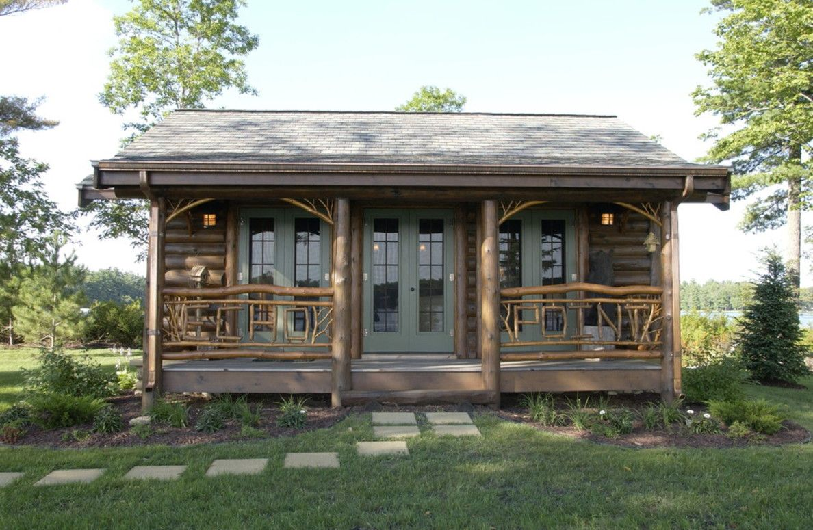 Cabin exterior color schemes design underline to be for Rustic cabin designs