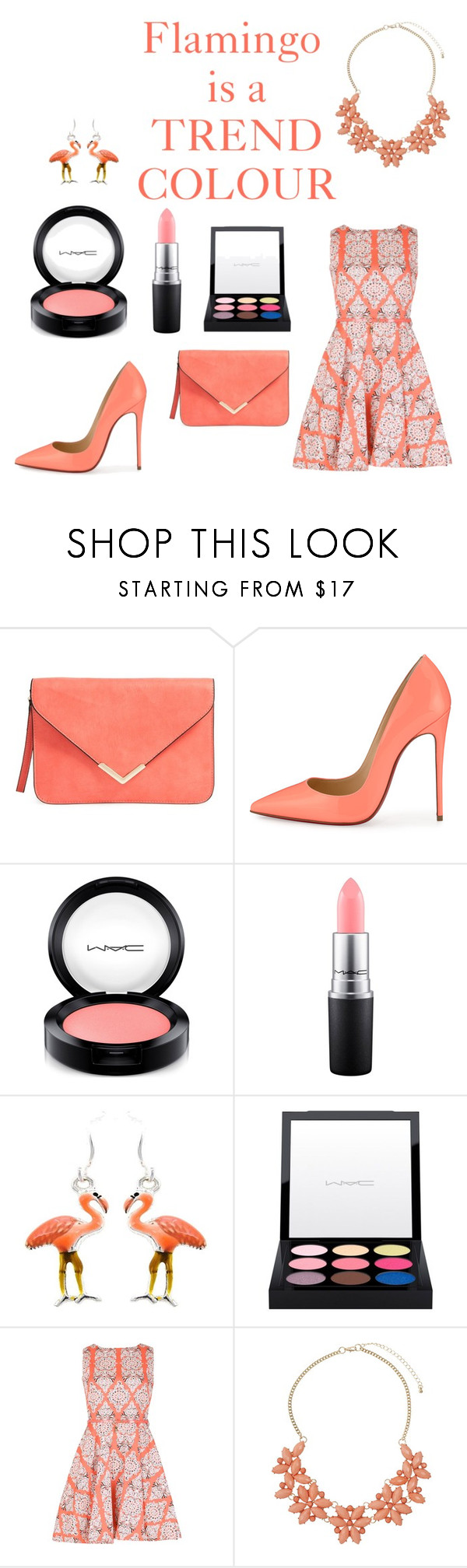 """""""Trend Colour"""" by vikisi ❤ liked on Polyvore featuring Christian Louboutin, MAC Cosmetics, Izabel London and Dorothy Perkins"""