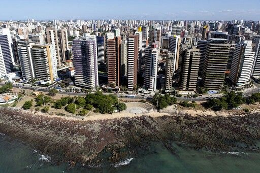 Aerial view of Iracema Beach.