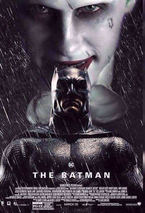 Awesome Fan Art For Ben Affleck S Standalone Batman Movie Featuring Ben Affleck And Jared Leto As Bruce Wayne Batman And The Joker