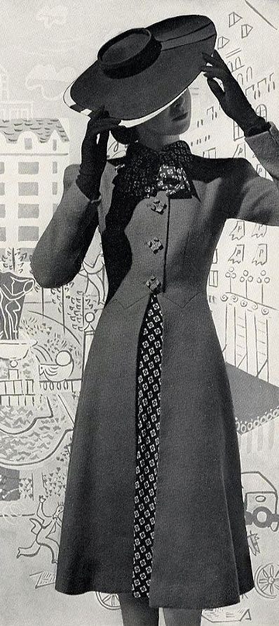 Five 40s Dresses That Capture The Era: 1940s Era Feminine Ladies Jacket/coat