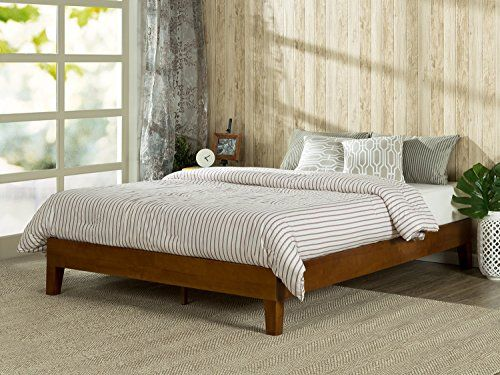Zinus 12 Inch Deluxe Solid Wood Platform Bed No Boxspring Needed Wood Slat Support Queen You Ca With