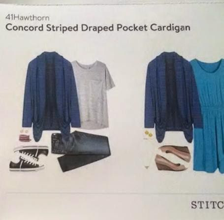 Would love this in my October 2015 stitch fix! 41 Hawthorn Concord Striped Draped Pocket Cardigan