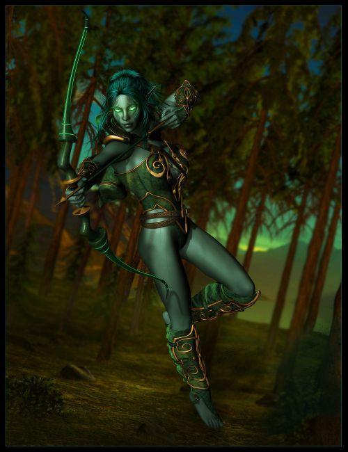Dark Elves for Genesis   Fairies Elves for Daz Studio