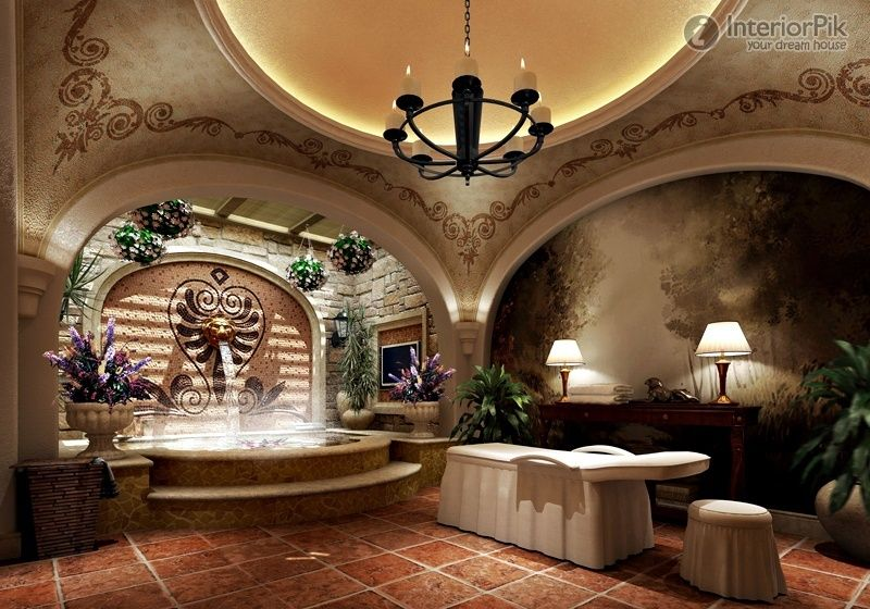 Tuscan style livingroom sets tuscan villa style bathroom for Italian villa interior design ideas