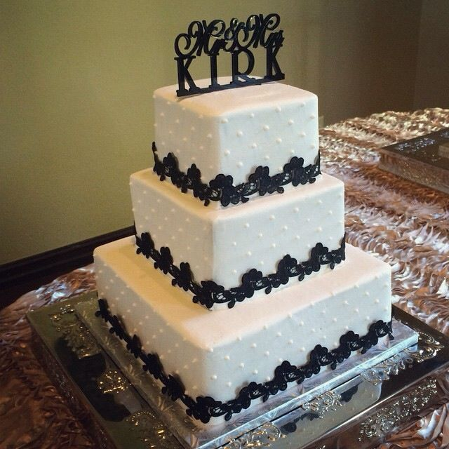 3 Tier Piped Dots And Diamante Wedding Cake: Pin On Buttercream And Fondant Wedding Cakes