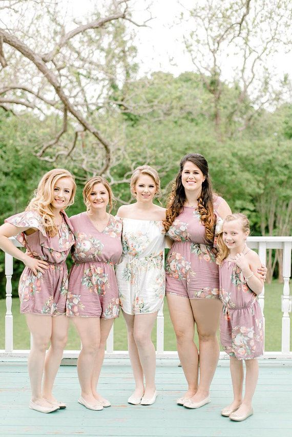 Dusty Mauve Rompers By Silkandmore Bridesmaids Gifts Bridal Party G