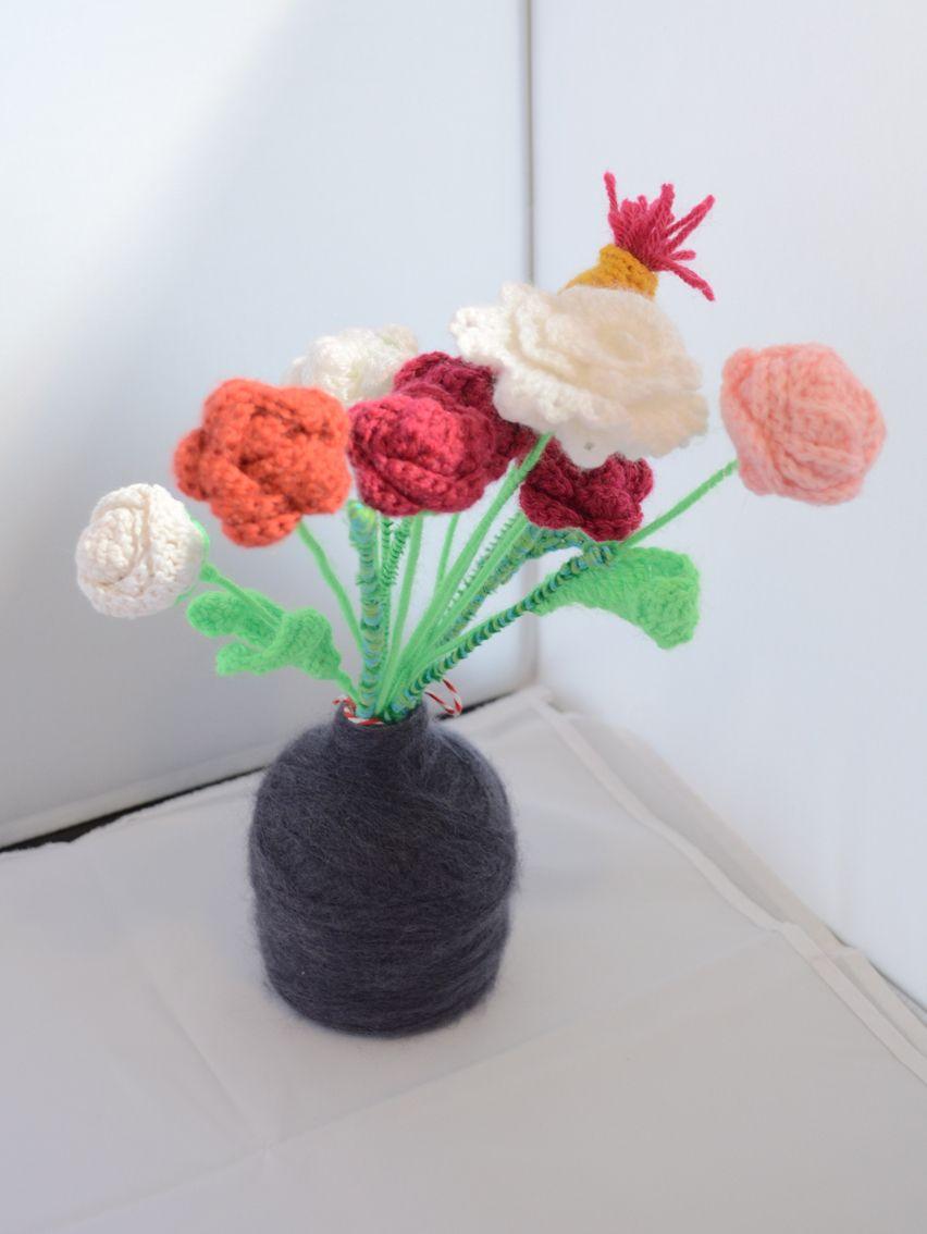 Crochet flower bouquet diy handmade wool httpfacebook crochet flower bouquet diy handmade wool httpfacebook izmirmasajfo