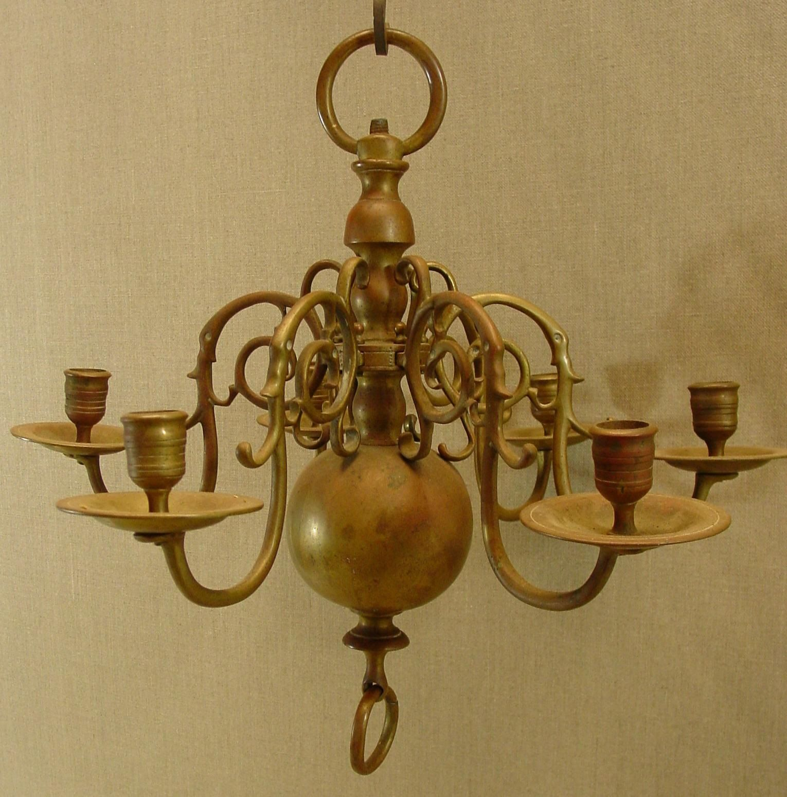 18Th Century Dutch Brass Chandelier Wiscasset Antiques Center