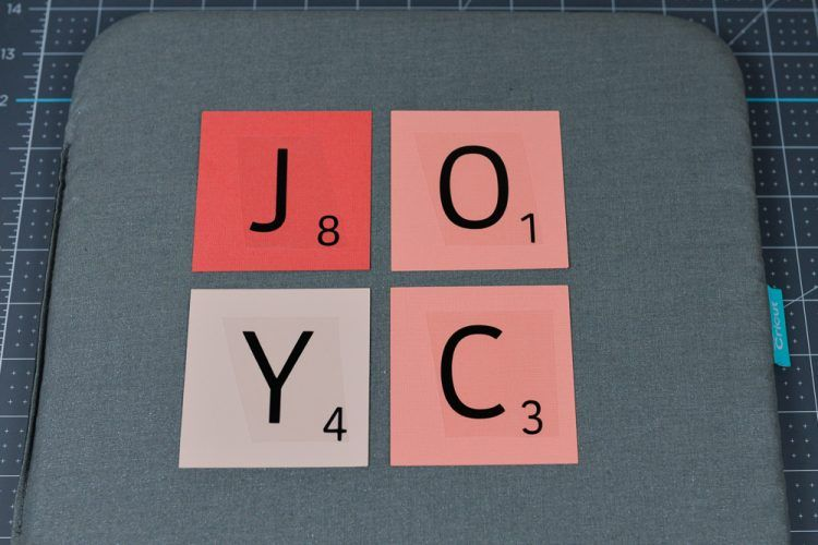Scrabble Words with Your Cricut Includes Free SVG! (With