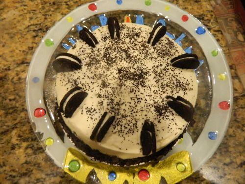 Pleasing Chocolate Nutella Oreo Birthday Cake Devils Food Cake Filed With Funny Birthday Cards Online Elaedamsfinfo