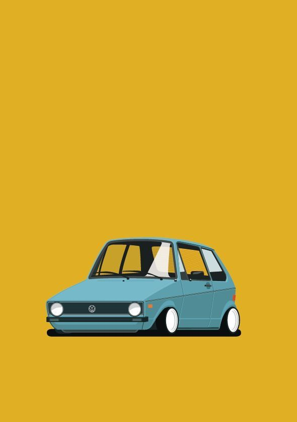 Pin By 93826 On Auto S Car Illustration Volkswagen Vw Art