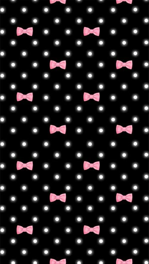 Pink And Black Bows Pink And Black Wallpaper Bow Wallpaper