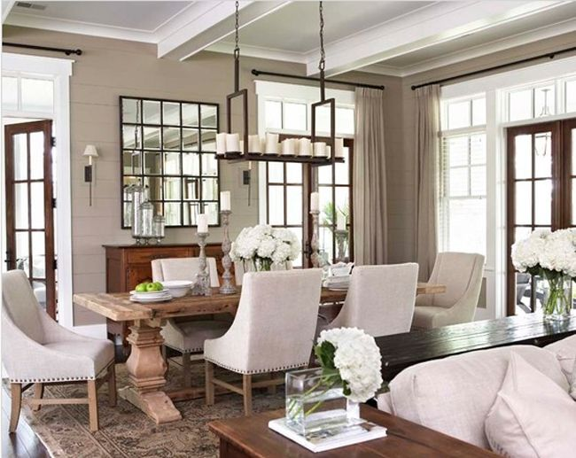 Oversize Multi 25 Panel Wall Mirror Metal Frame Square Eagan Very Large Xl French Country Dining Room Country Dining Rooms Dining Room Style