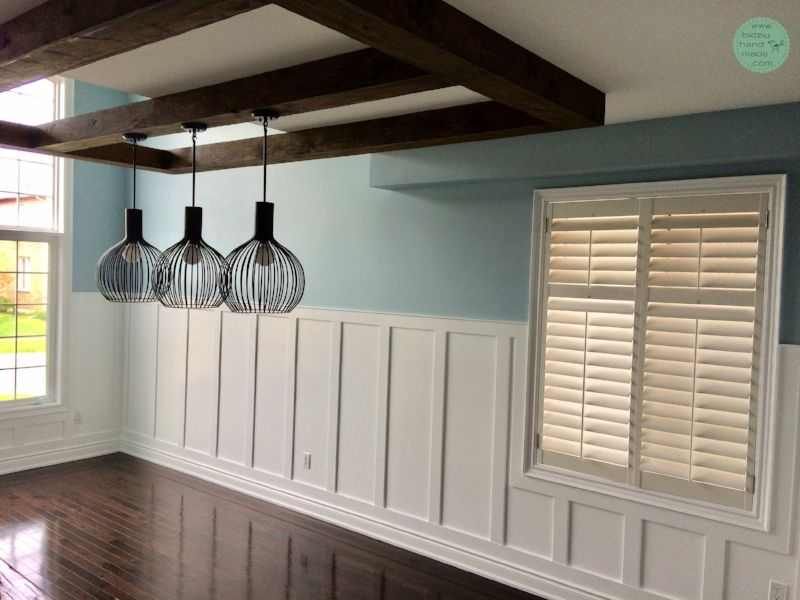 Modern dining room wainscoting.   Dining room wainscoting ...