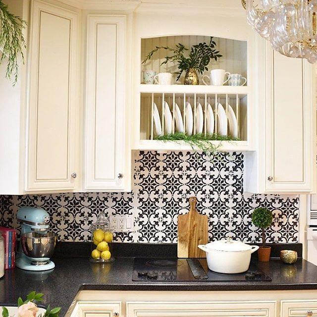 Would you paint your kitchen backsplash? | Fabiola Tile ...