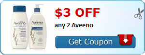 New Coupon!  $3.00 off any 2 Aveeno - http://www.stacyssavings.com/new-coupon-3-00-off-any-2-aveeno/