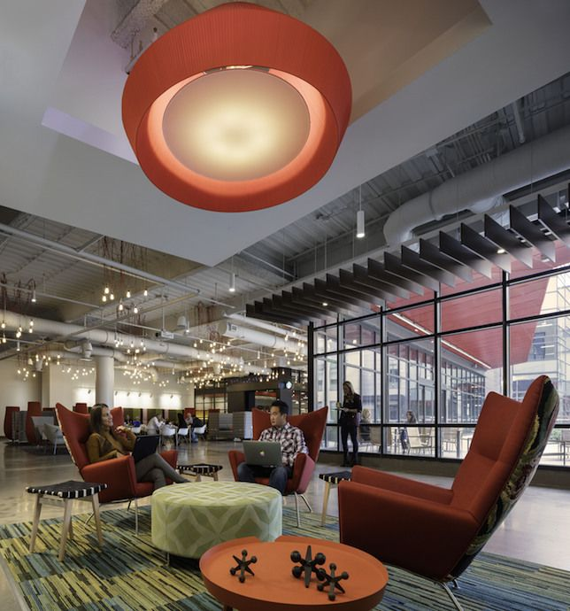 American greetings gets a space thats as creative as its people american greetings used a variety of furniture brands in its new offices including haworth vitra and moroso usa among others image courtesy of american m4hsunfo