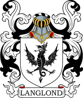 Langlond Family Crest and Coat of Arms