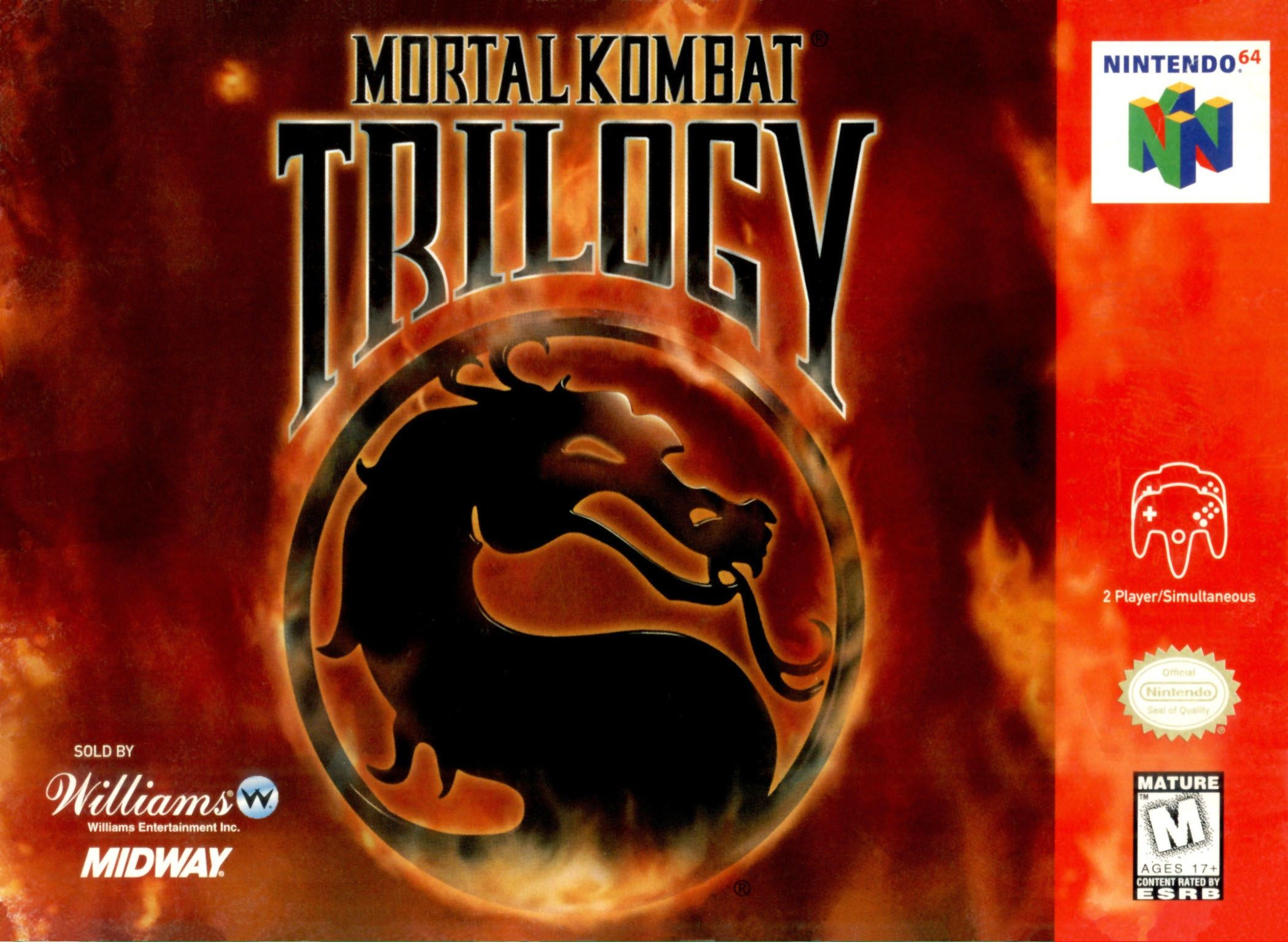 Mortal Kombat Trilogy Nintendo 64 Game Mortal kombat