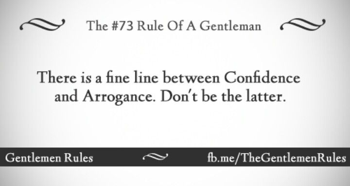 Gentlemen rules