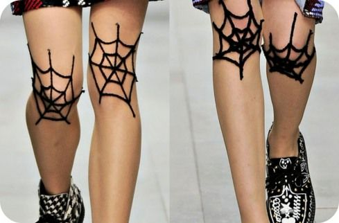 Spiderweb Knee tights by Ashish