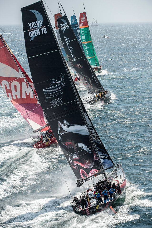 Volvo Ocean Race Leg 8 From Lisbon To Lorient In 2020 Sailing Yacht Sailing Volvo Ocean Race