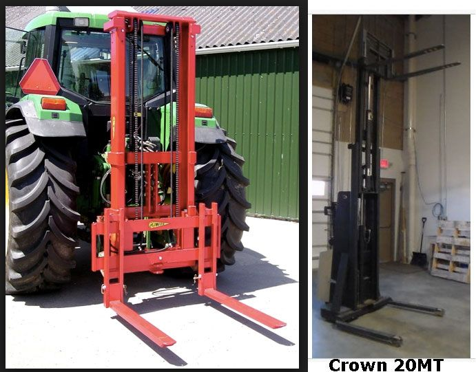 3 point Forklift with a mast to go 17 feet high | hops farm