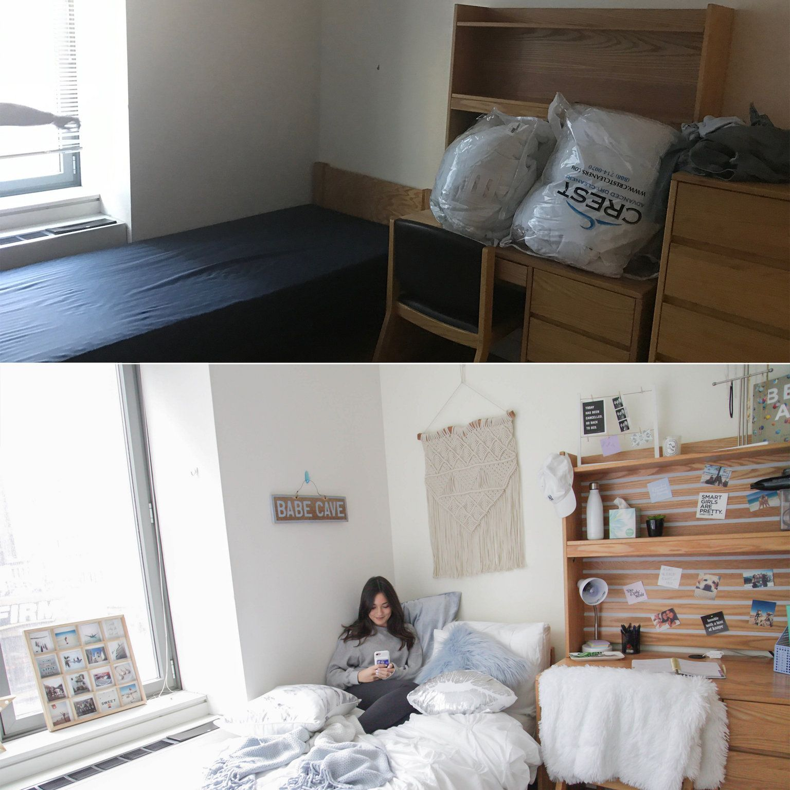 15 Incredible Dorm Room Makeovers That Will Make You Want To Go Back To College Beautiful Dorm Room Single Dorm Room Cozy Dorm Room