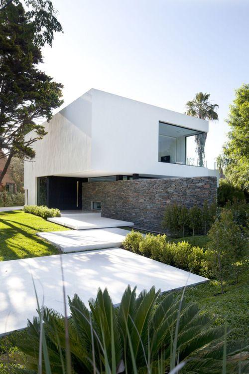 façade idées maison Pinterest Maisons contemporaines et - facade de maison contemporaine