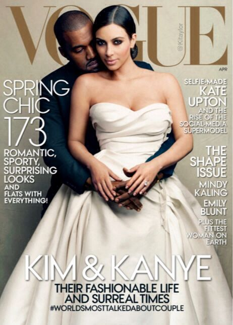 VOGUE April 2014 :: Their day is drawing near...  #HeLovesHer #3 #TheWests #NorthWest #KimYe