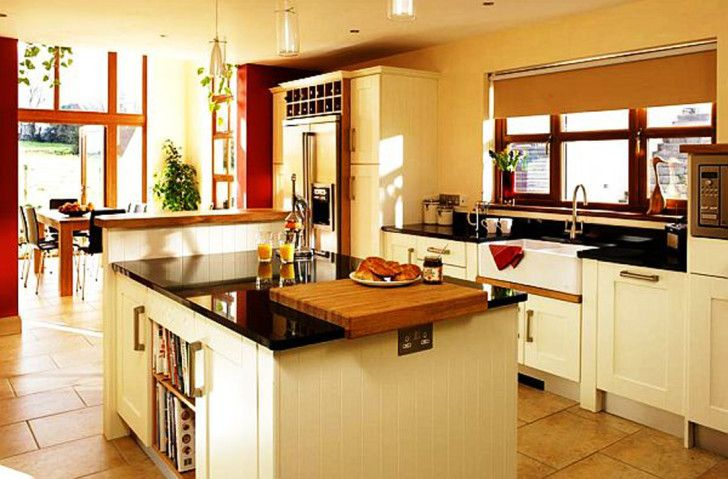 Inexpensive Kitchen Designs Ideas Superb Modern 2013 With Black Granite Countertop Island