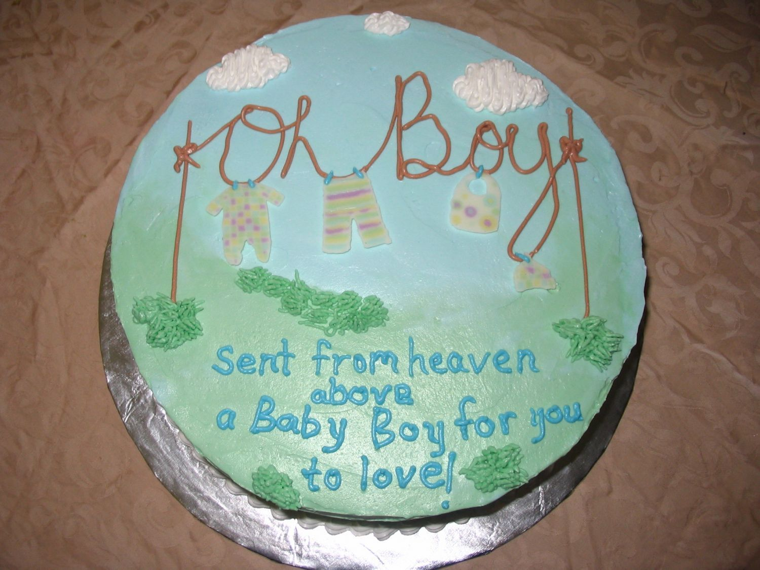 Oh Boy Baby Shower Cake This Is My Version Of The Oh So Famous