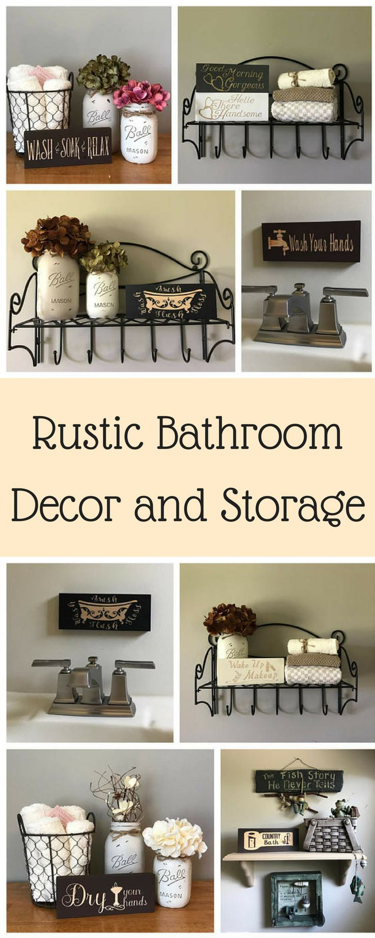 Perfect bathroom decor and storage ideas! I have such a small ...