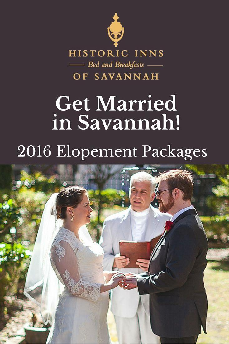 Get Married In Savannah 2016 Elopement Wedding Packages
