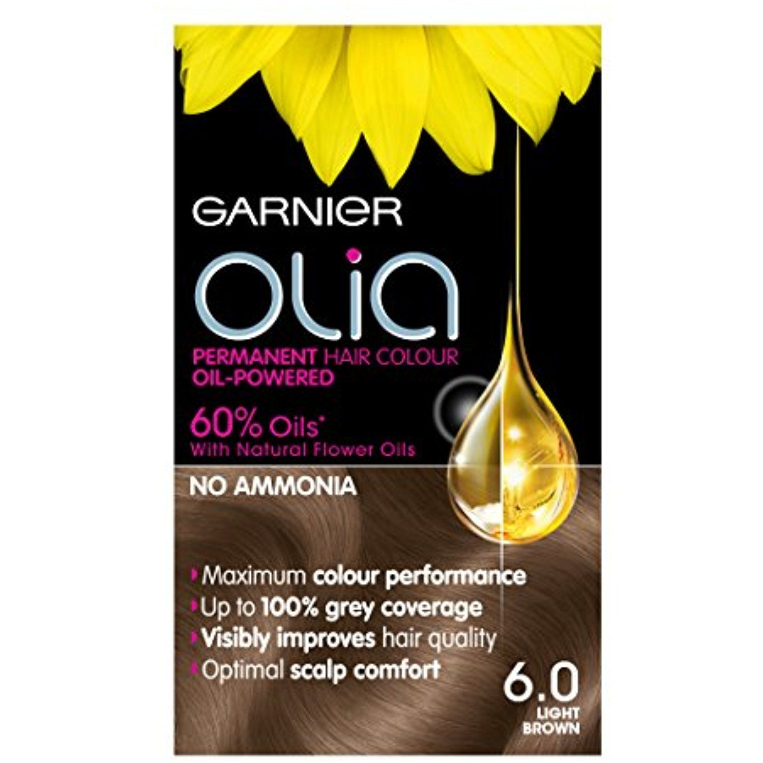 Garnier Olia Permanent Hair Colour 6 0 Light Brown Learn More By
