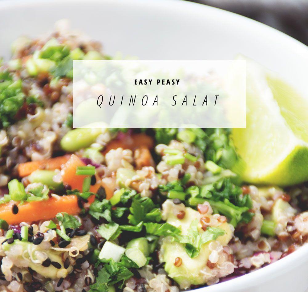 Quinoa Salat mit Koriander, Avocado & Limettendressing   www.juyogi.com